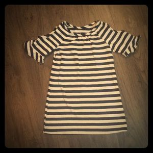 Navy and blue striped dress-Size 4 ⛵️